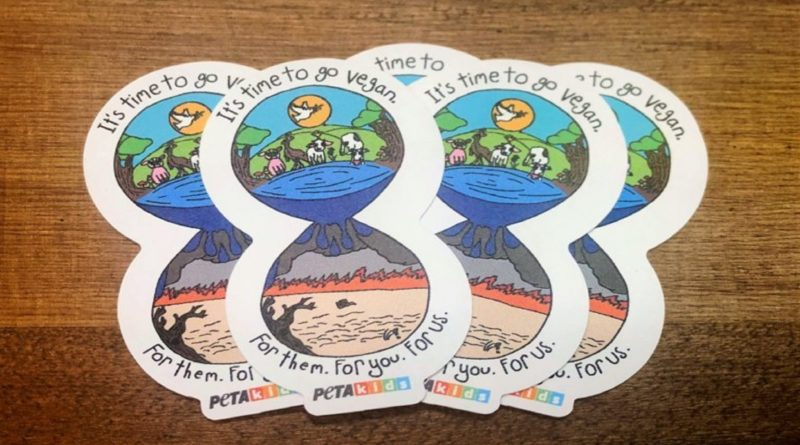 Go vegan climate change stickers
